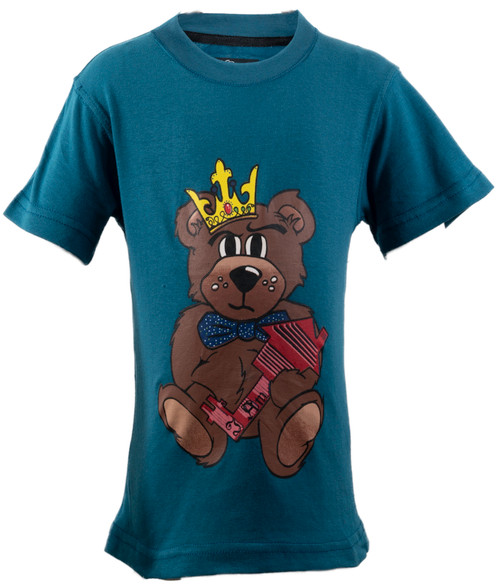 The Teddy Tee  Teal