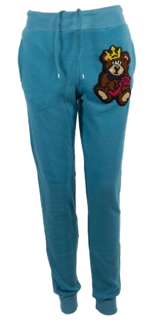 The Teddy Logo Joggers Teal