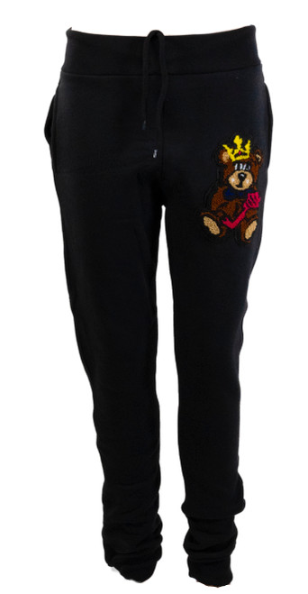 The Teddy Logo Joggers Black
