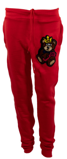 The Teddy Logo Joggers Red