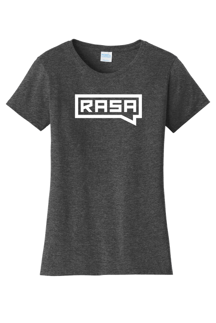 Rasa Logo T-shirt - Dark Gray - Women's Cut