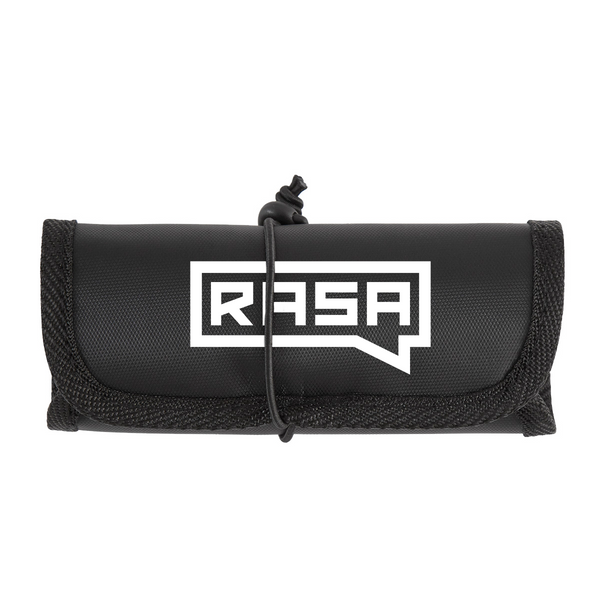 Rasa Logo Electronic Tech Organizer Roll-up
