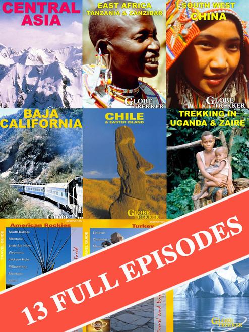 Globe Trekker Season TWO (Complete 13 episode Digital Download bundle) 25th  Anniversary Special!