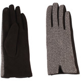 Womens Glove - Polyester, Tweed Top, two sewn in texting fingers, Wholesale