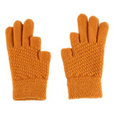 Womens Glove - 100% Acrylic, criss cross design, no cover on two texting fingers, Wholesale