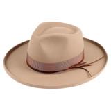 "Unisex Hat - Wool Felt, 3"" brim, 1/2"" kettled brim, 1/2"" leatherette matching band, stiff brim, Wholesale"