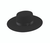Unisex hat, Wool felt, 4 inch brim, western boater, Wholesale