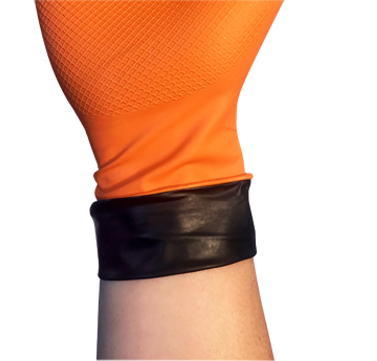 Tiger Paws 8 MIL Dual-Layer Disposable Nitrile  Glove, XL, Orange