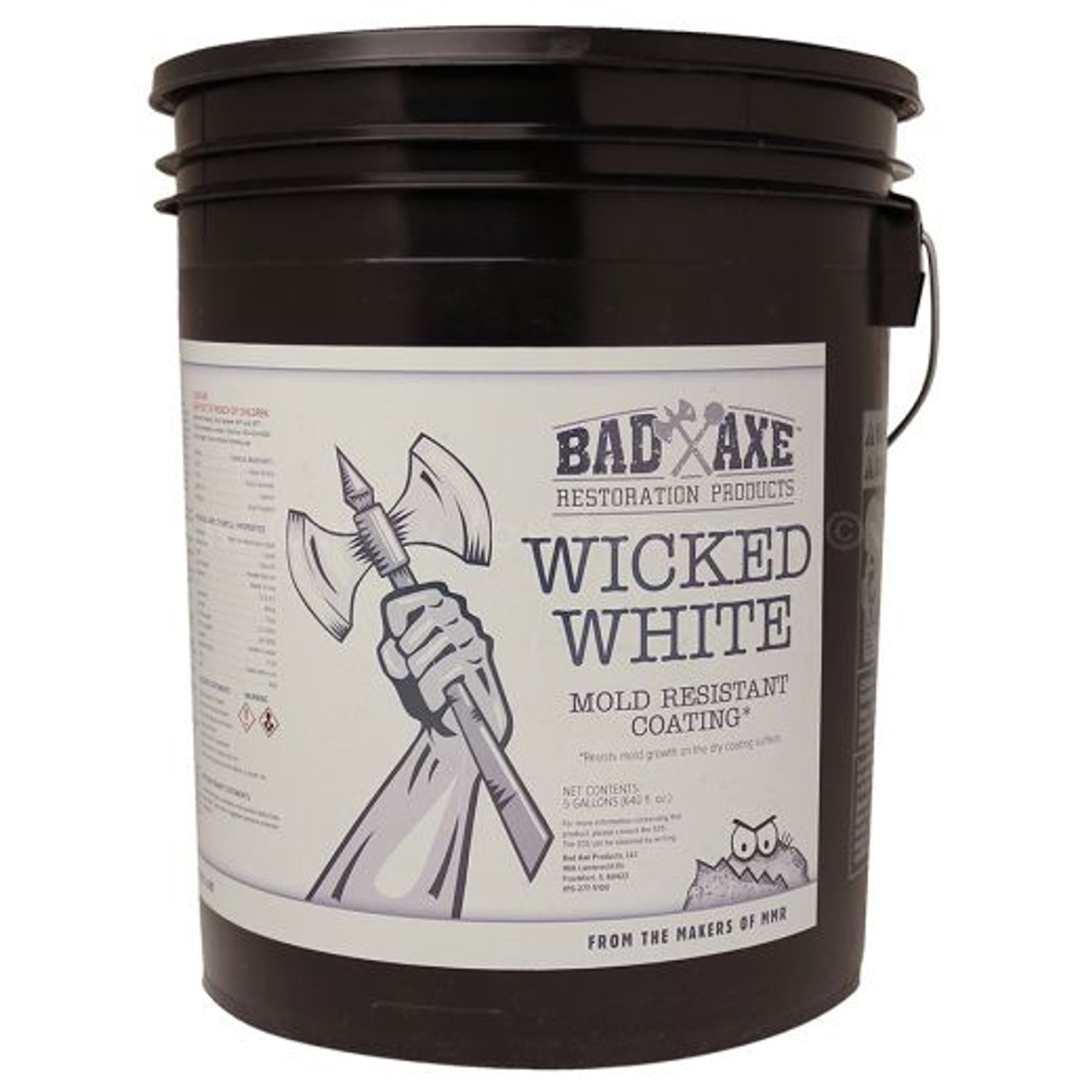 Bad Axe Wicked White, Mold Resistant Coating, White (5 GL)