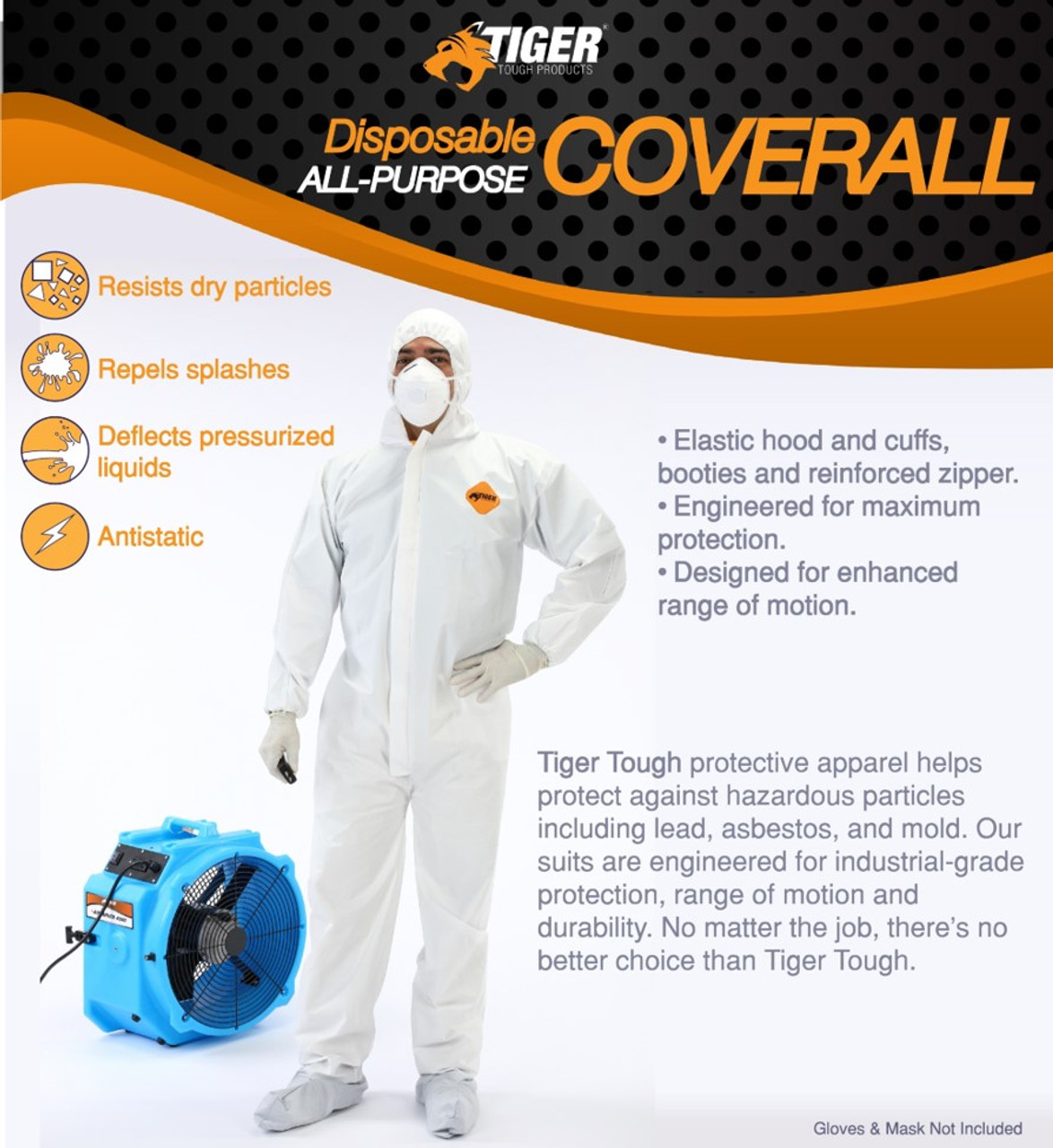 Tiger Tough Disposable All Purpose Coverall