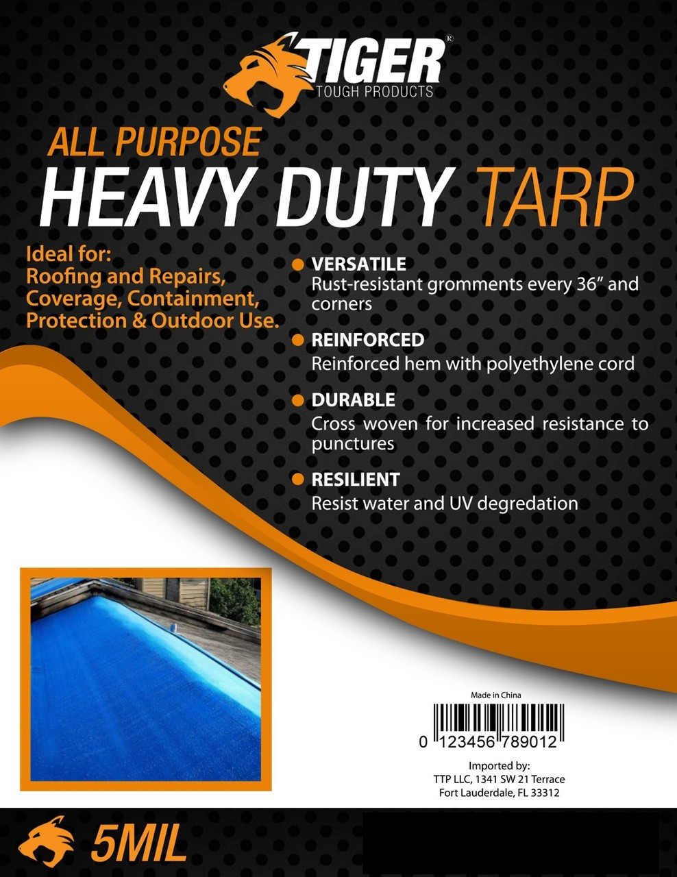 Tiger Tough Heavy Duty All-Purpose Tarp