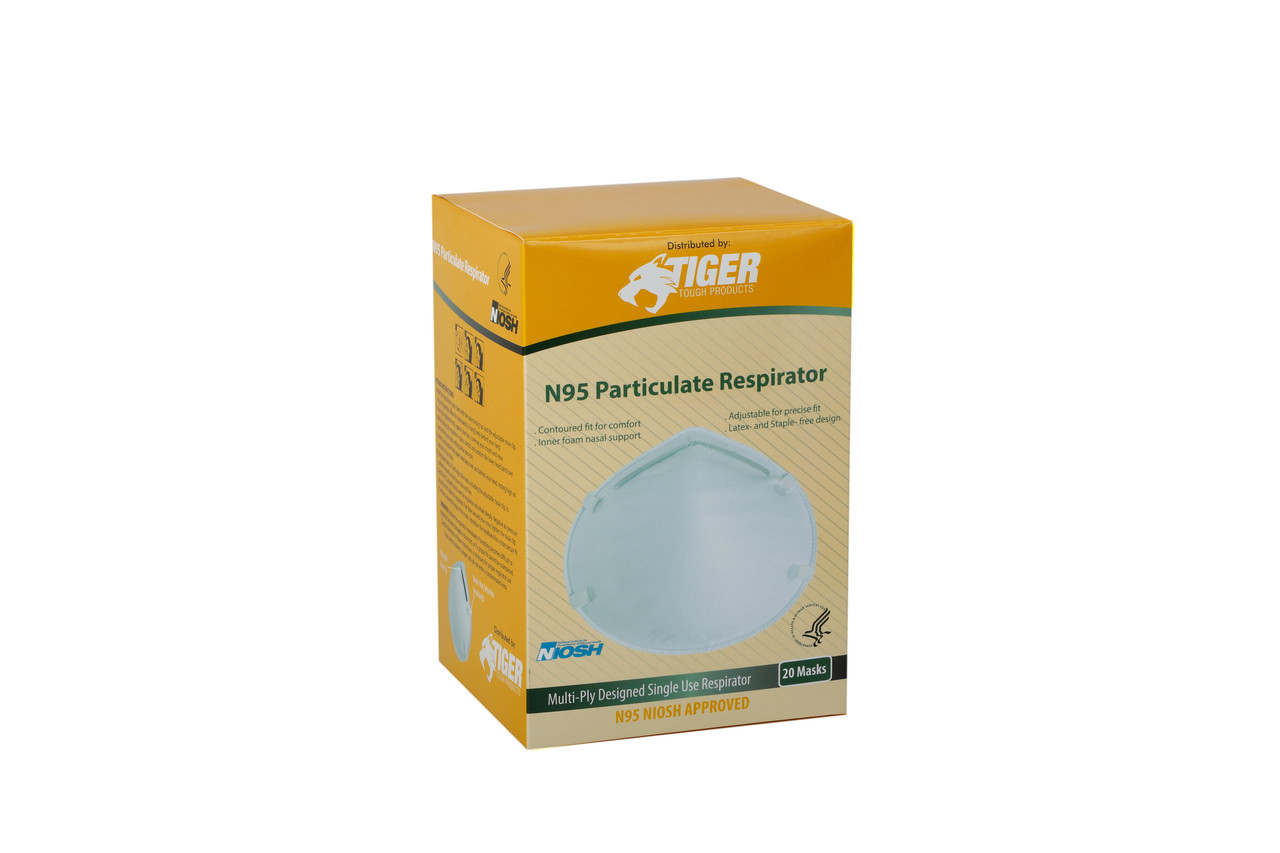 Particulate Respirator N95 NIOSH Approved Box of 20