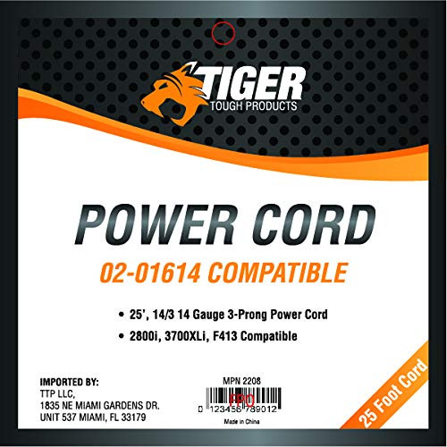Tiger Tough Power Cord 02-01614 Dri-Eaz Compatible 25-Foot 14-Guage 3-Prong Heavy Duty