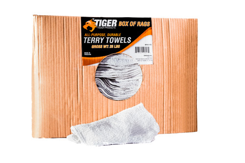 Tiger Tough Terry Towels Box of 25 Lbs.