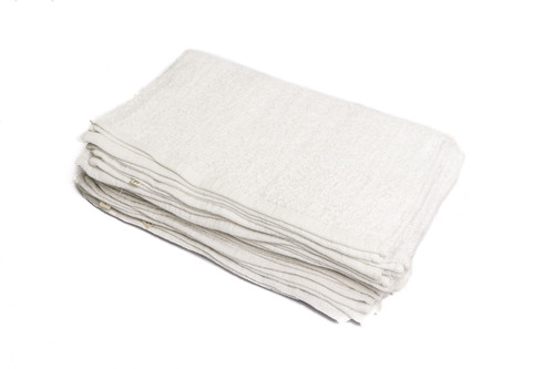 """Tiger Tough Terry Towels Pack of 24, White, 16"""" x 19"""""""
