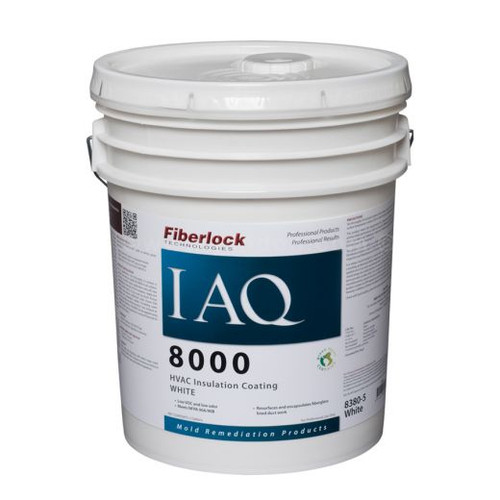 Fiberlock IAQ 8000 HVAC Insulation Coating (5 GL)
