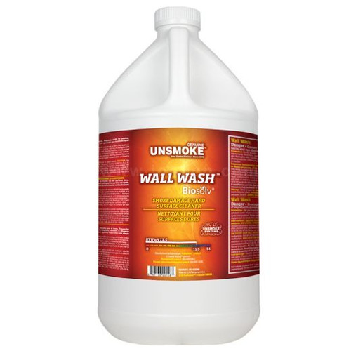Unsmoke  Wall Wash with Biosolv  CASE of 4 gal.