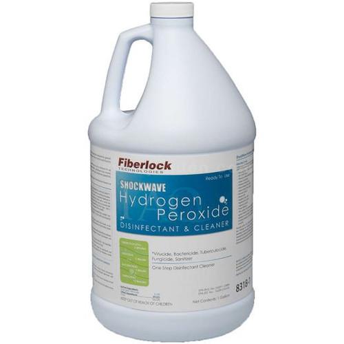 Fiberlock ShockWave Hydrogen Peroxide Disinfectant CASE of 4 gal