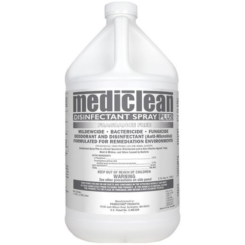 MediClean  Disinfectant Spray Plus (formerly Microban ), Fragrance Free CASE of 4 gal