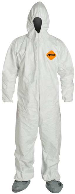 Tiger Tough Heavy Duty All Purpose Coverall, Safety Glasses & Gloves 5-Piece Set