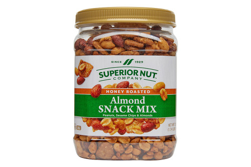 Honey Roasted Almonds Snack Mix, 28oz Jar