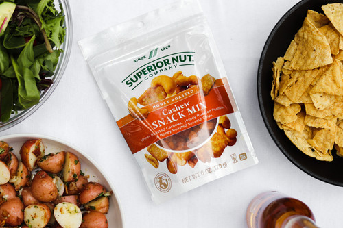 Superior Nut Honey Roasted Cashew Snack Mix Outdoors