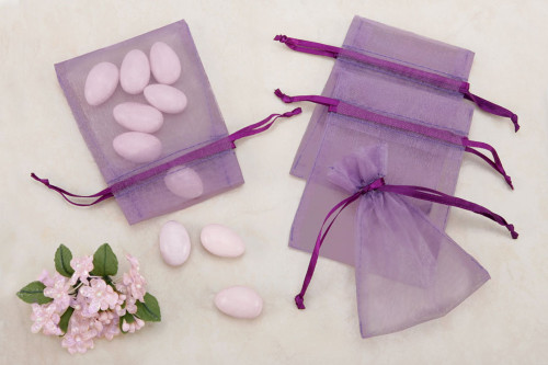Purple Organza Party favor Bags (pack of 10)