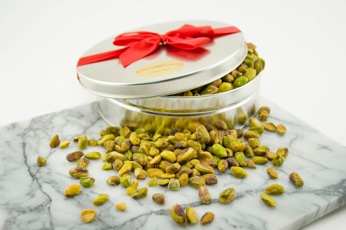 Roasted and Salted Pistachio Meats Gift Tin