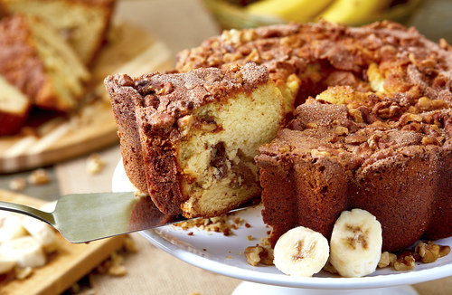 My Grandma's Banana Walnut Coffee Cake