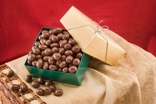 Chocolate Covered Almonds Gift Box