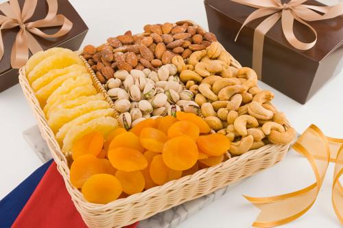 Fruit and Nut Basket (2 Pound Basket)