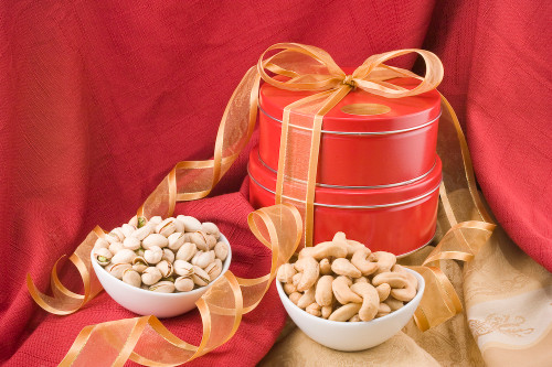 Giant Cashews/Colossal Pistachios Gift Tower