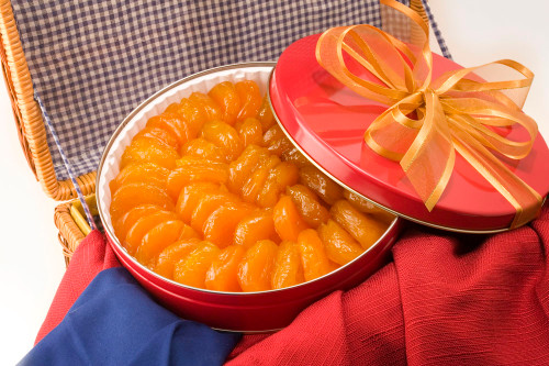 44oz Superior Glazed Apricots Gift Tin