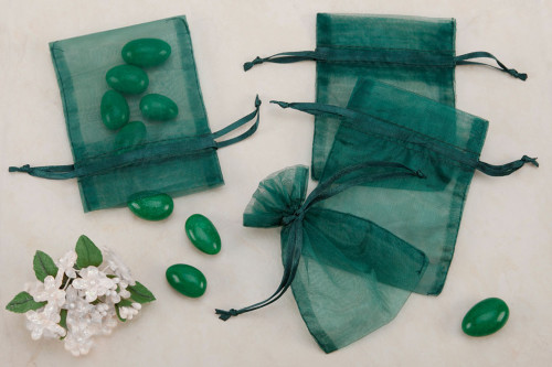 Green Organza Party favor Bags (Pack of 10)