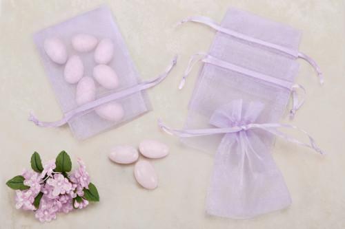 Lavender Organza favor Bags (Pack of 10)