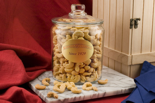 Giant Cashews - 2.5 Pound Glass Jar (Unsalted)