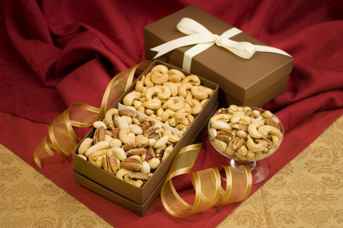 Cashew & Mixed Nuts Gift Box Duo (Unsalted)