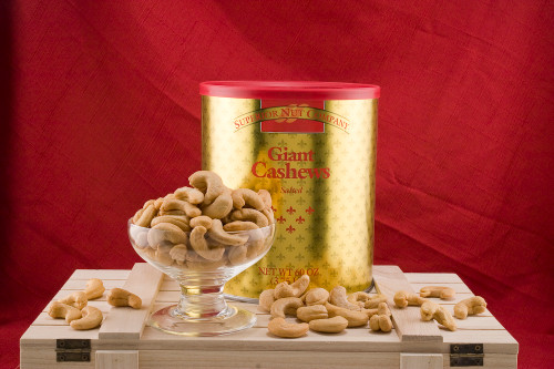 GIANT WHOLE CASHEWS (Salted) - 3.75 LBS