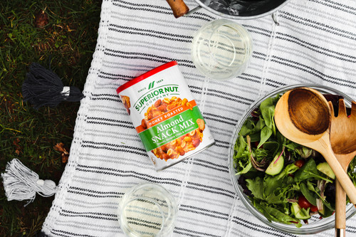 Superior Nut Company Original Honey Roasted Almond Snack Mix Outdoors