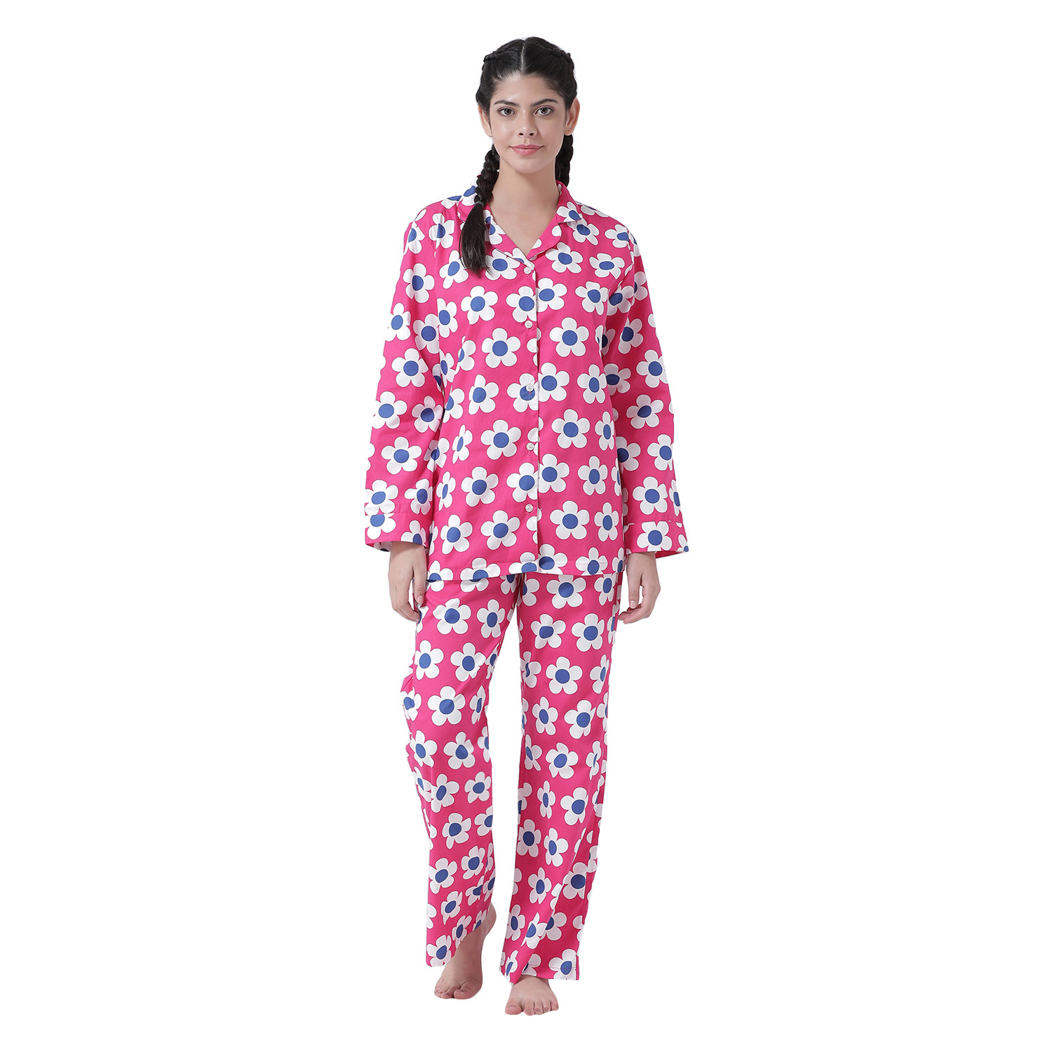 Flower Power Women's Cotton Night Suit