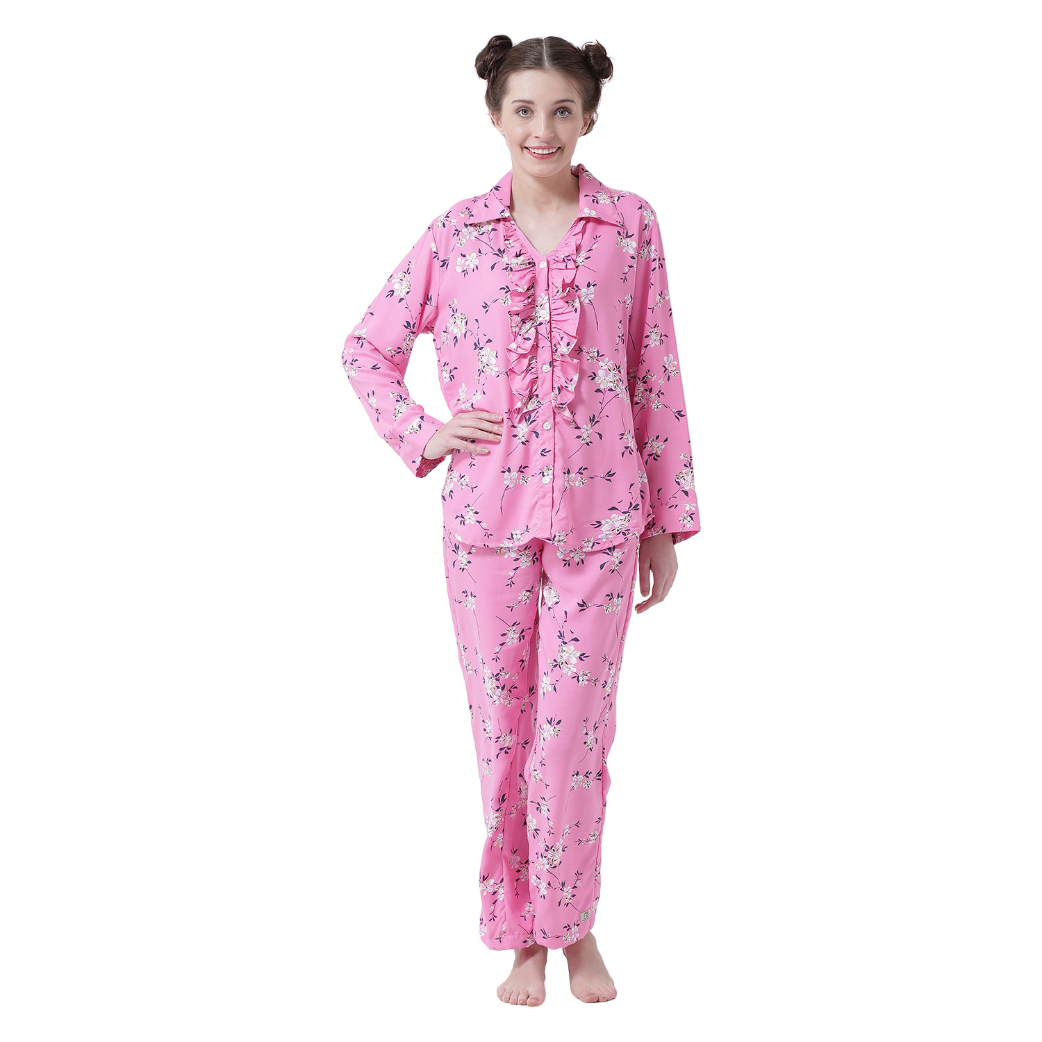 Garden Of Eden Women's Rayon Cotton Night Suit