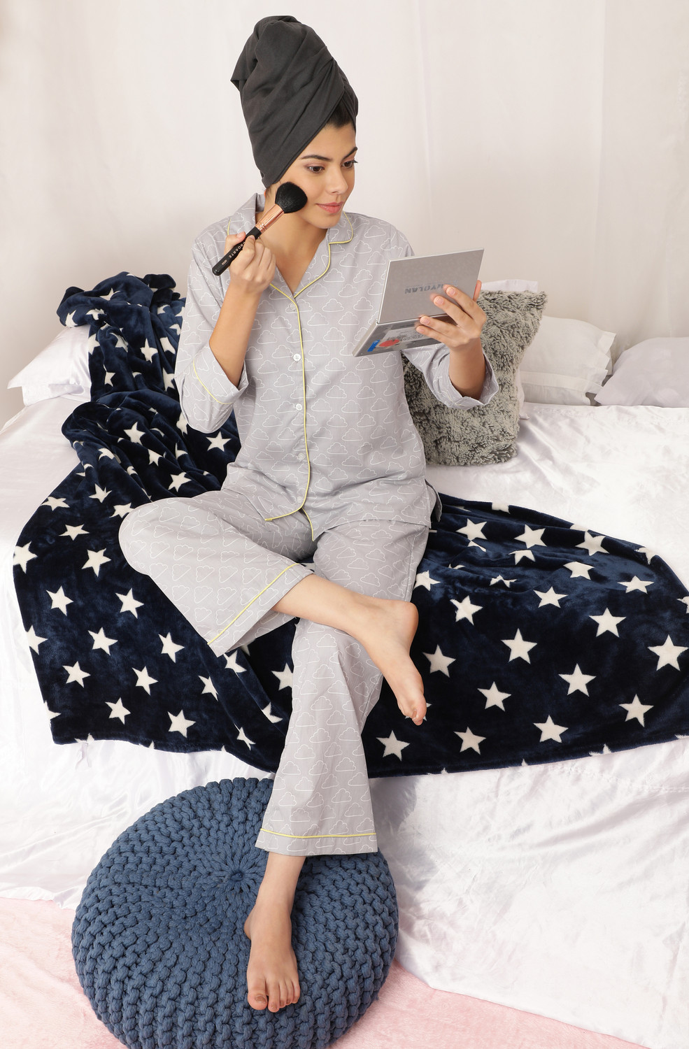 Head In The Clouds Women's Cotton Night Suit