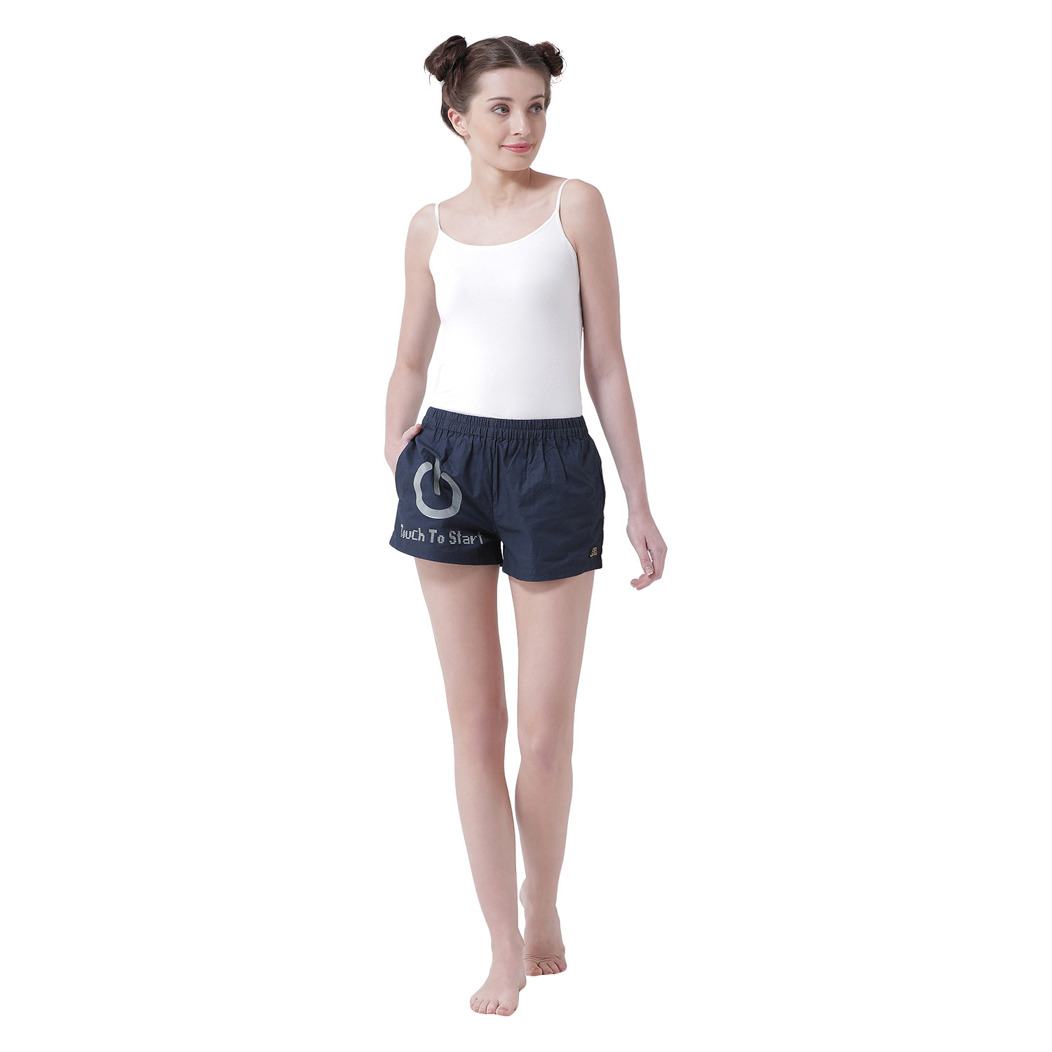 Touch To Start Women's Cotton Shorts