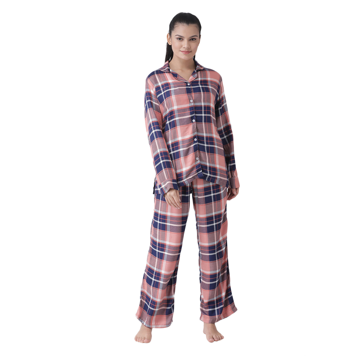 Everything is Peachy Women's Rayon Cotton Night Suit