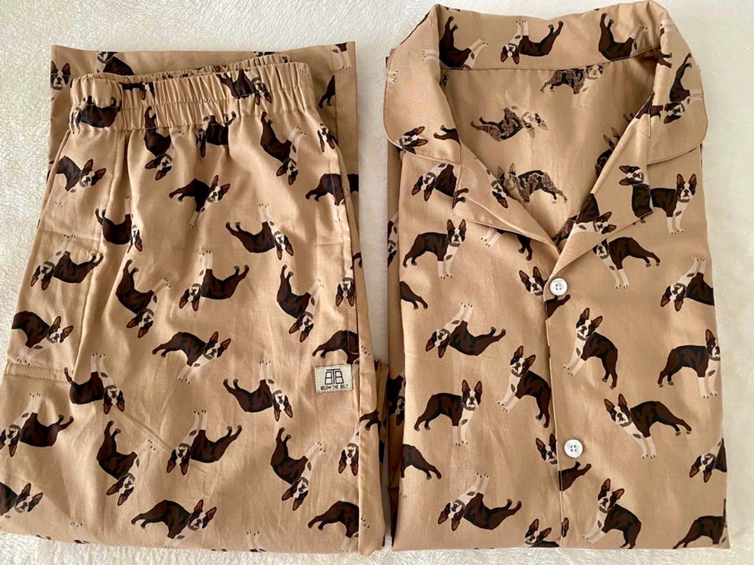 On the WOOF Top Men's Cotton Night Suit