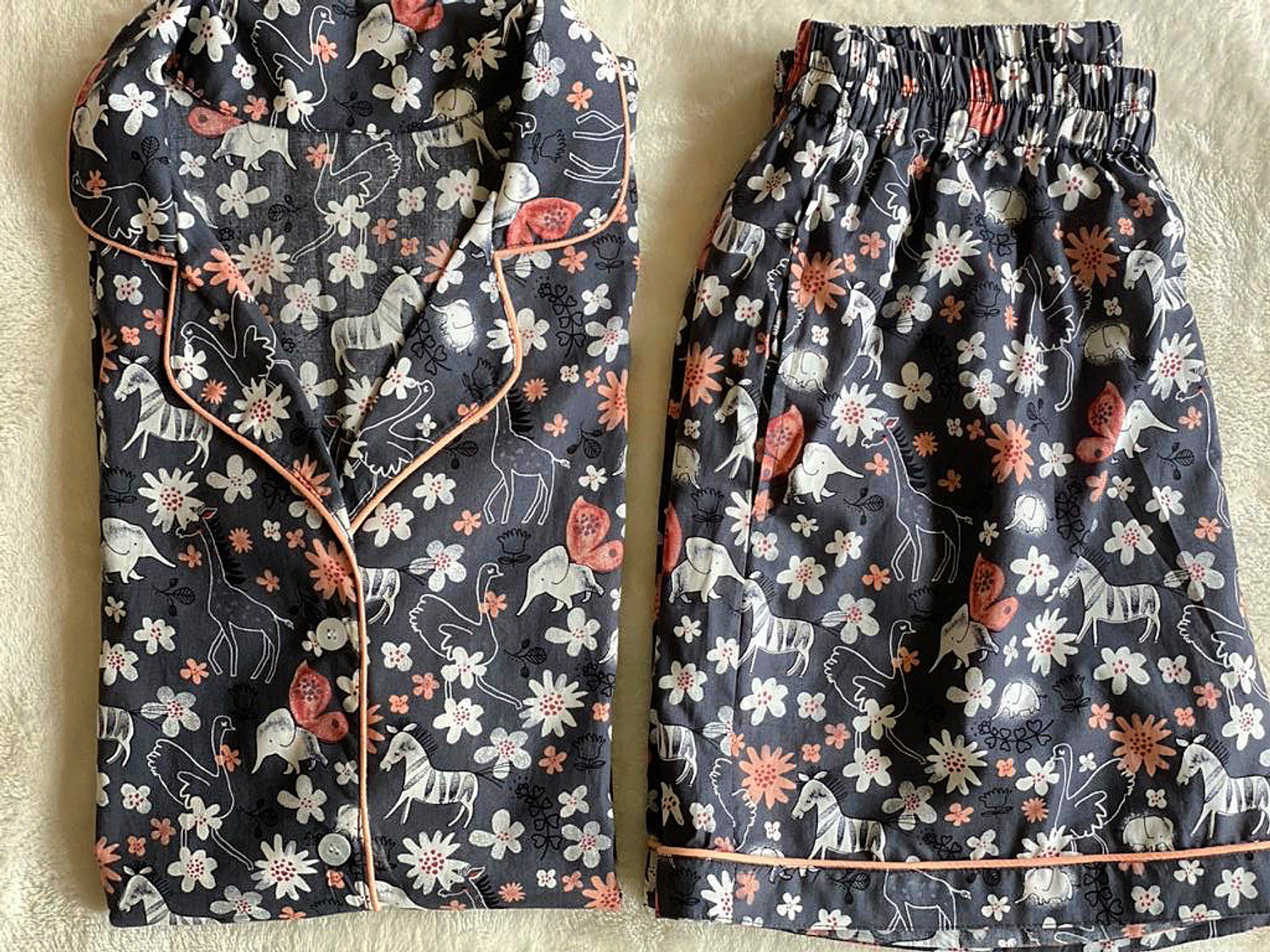 Wildflowers Rayon Cotton Nightsuit with Shorts