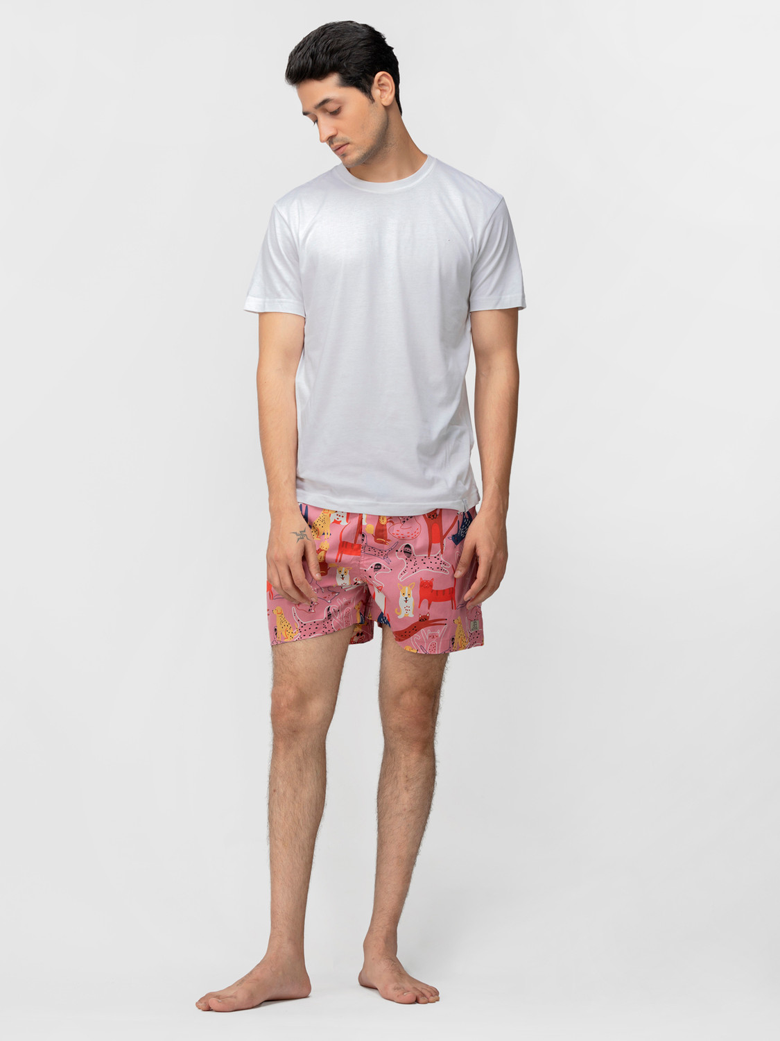 Love at FURst Sight Men's Rayon-Cotton Boxers