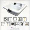 Extra Wide Square ABS Plastic Shampoo Bowl TLC-W22 KSGT