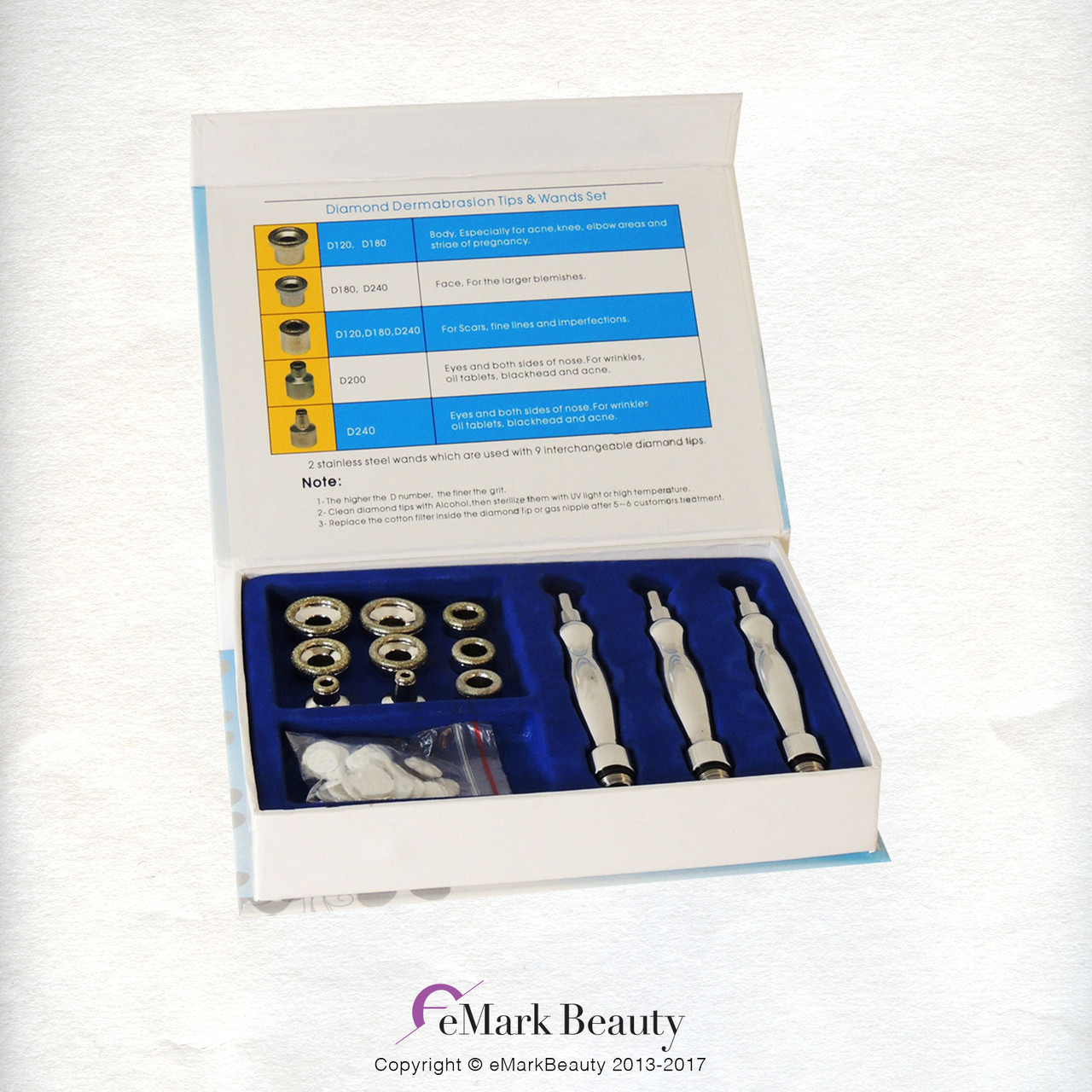 Microdermabrasion Tips and Wands TLC-8000DTW