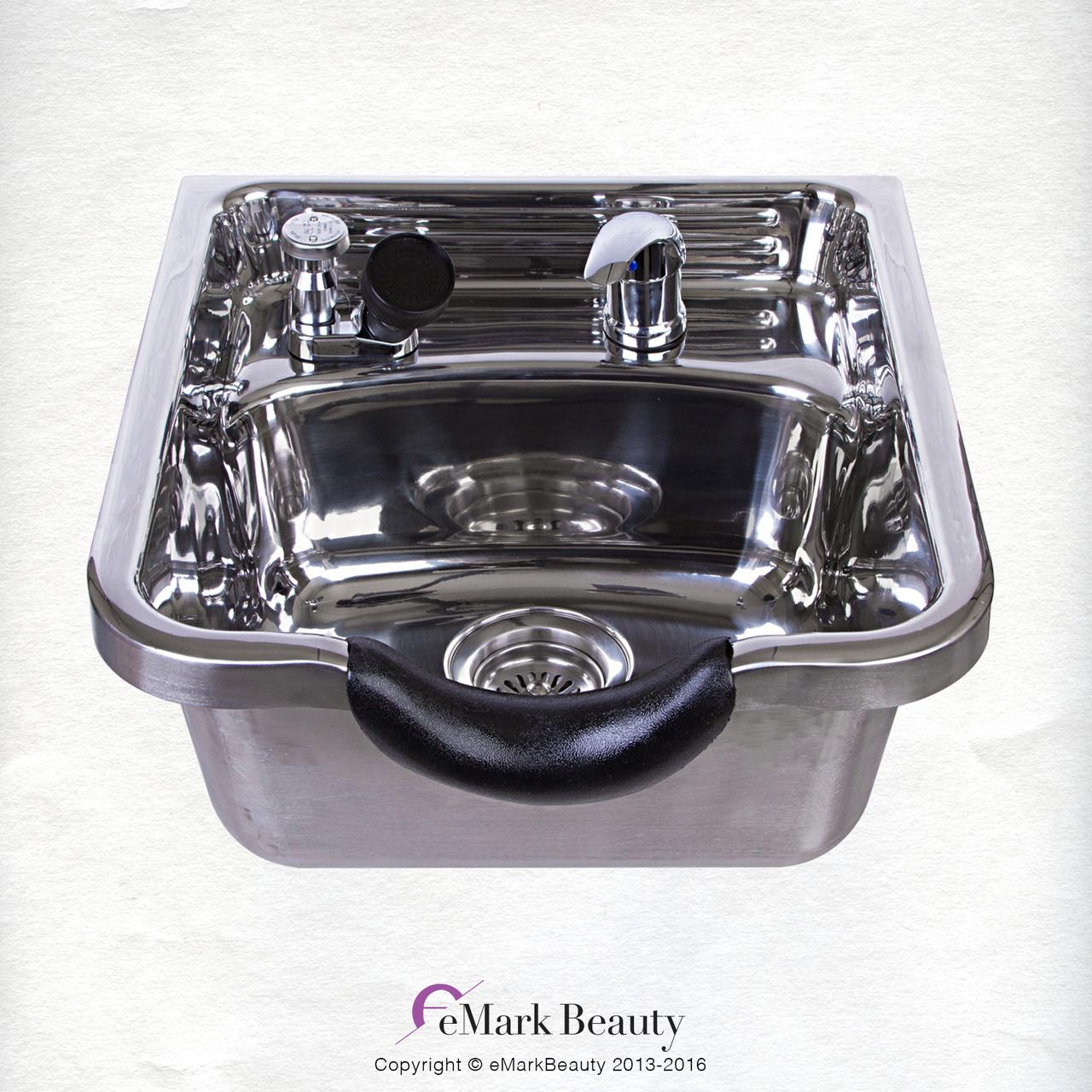Stainless Steel Shampoo Bowl Shampoo Sink Barber Beauty Salon Polished TLC- 1168 ...